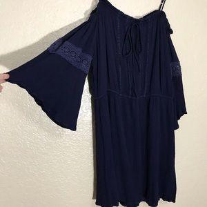 NAÏF Women 1X Navy Blue Above the Knee Dress